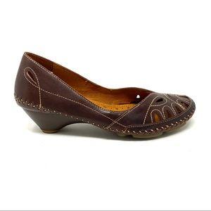 Pikolinos 788-7783 Bariloche Brandy leather heels